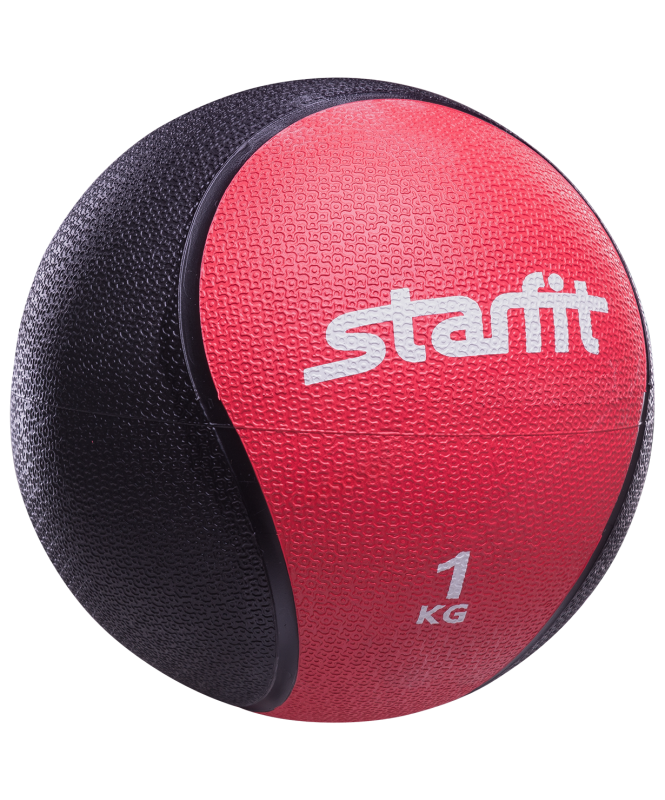 Медбол PRO GB-702, 1 кг, красный, Starfit