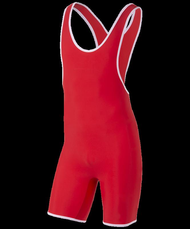 Трико борцовское 6917, 44-54, красный, BaseFit
