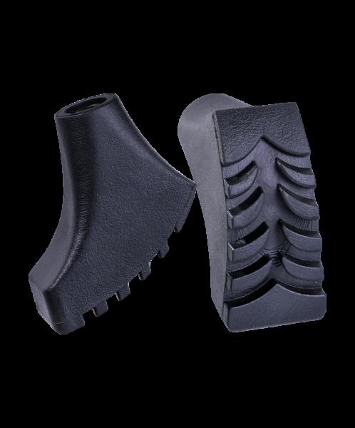 Комплект наконечников для скандинавских палок, 2 шт., чёрный, Berger