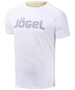 Футболка тренировочная детская JTT-1041-018, полиэстер, белый/серый, Jögel
