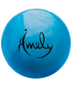 Мяч для художественной гимнастики AGB-301 19 см, синий/белый, Amely