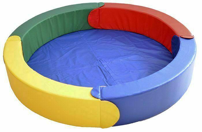 Сухой бассейн модульный круглый 4 элемента (D.189х30х15)