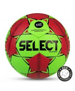 Мяч гандбольный MUNDO №2, зел/крас/чер, Select