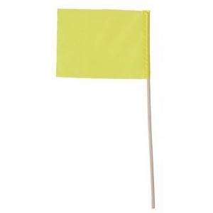 Флажок на деревянной палочке, желтый