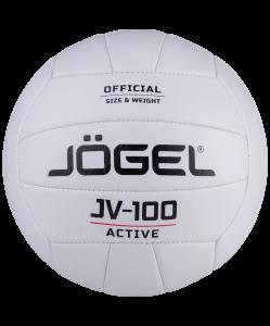 Мяч волейбольный JV-100, белый, Jögel