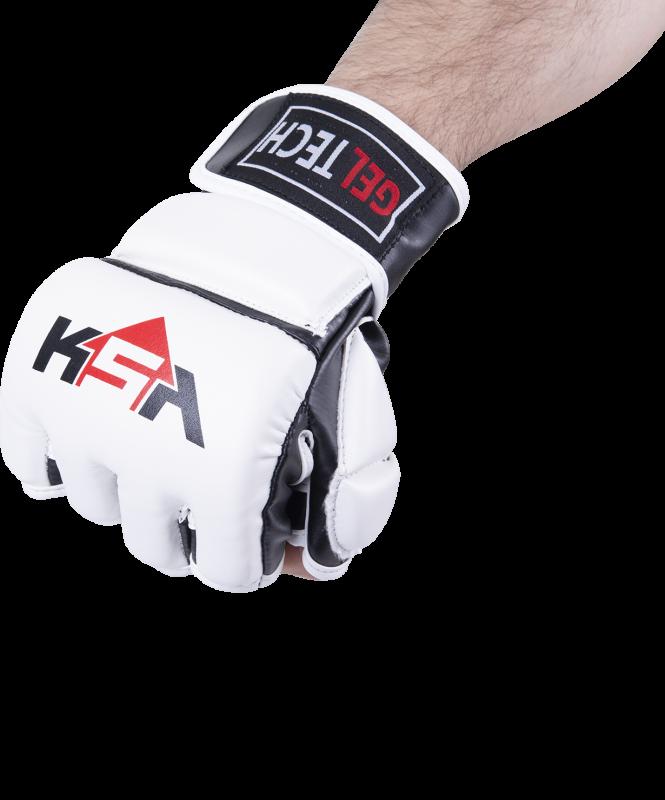 Перчатки для MMA Lion Gel White, к/з, M, KSA