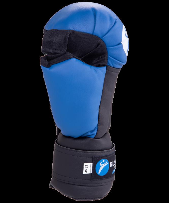 Перчатки для рукопашного боя, к/з, синие, Rusco