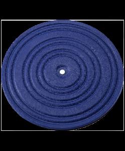 Диск здоровья FA-210, металл, синий/черный, BaseFit