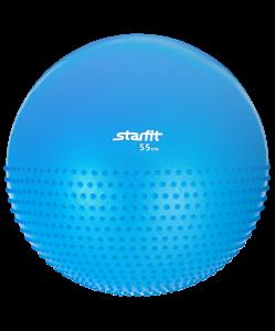 Мяч гимнастический полумассажный GB-201 55 см, антивзрыв, синий, Starfit
