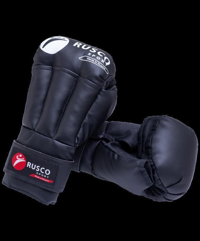 Перчатки для рукопашного боя, к/з, черный, Rusco