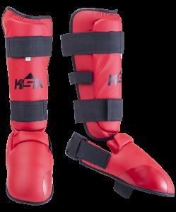 Защита голень-стопа Force Red, к/з, детский, KSA