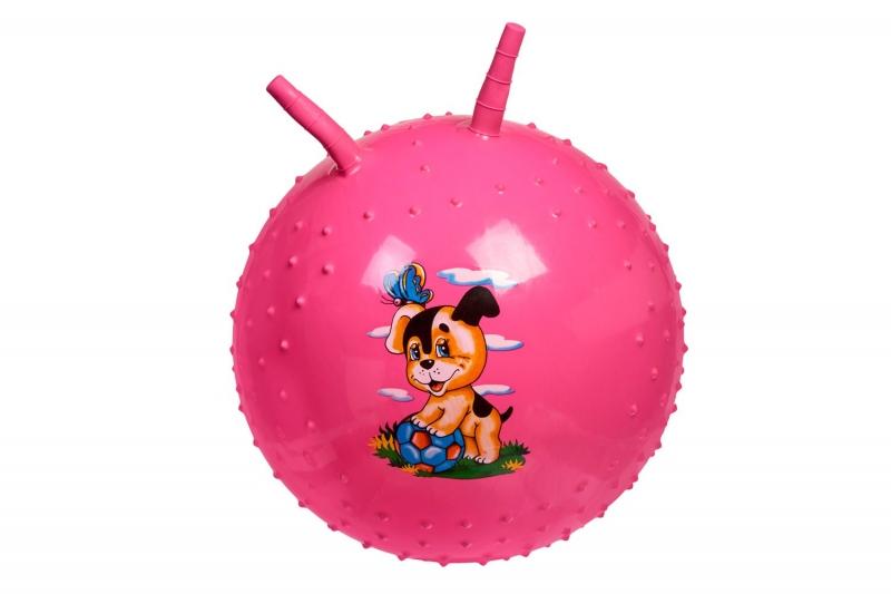 Детский массажный гимнастический мяч, розовый BRADEX DE 0542