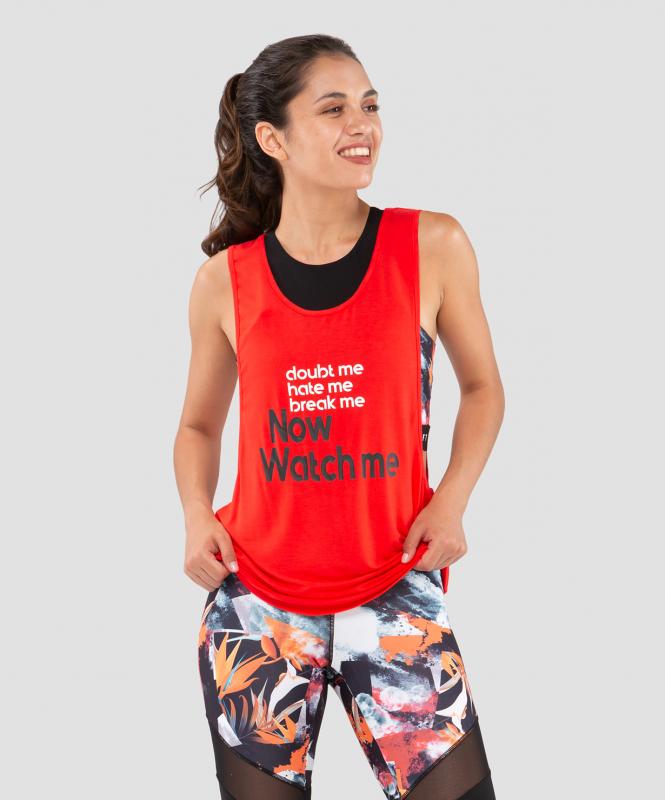 Женская спортивная майка Intense FA-WA-0102, красный, FIFTY