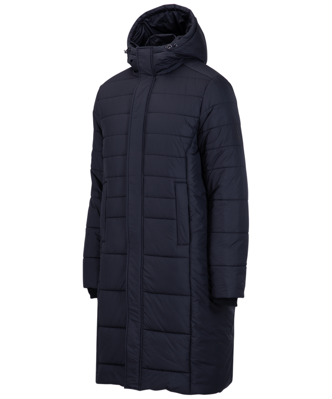 Пальто утепленное детское ESSENTIAL Long Padded Jacket, черный, Jögel