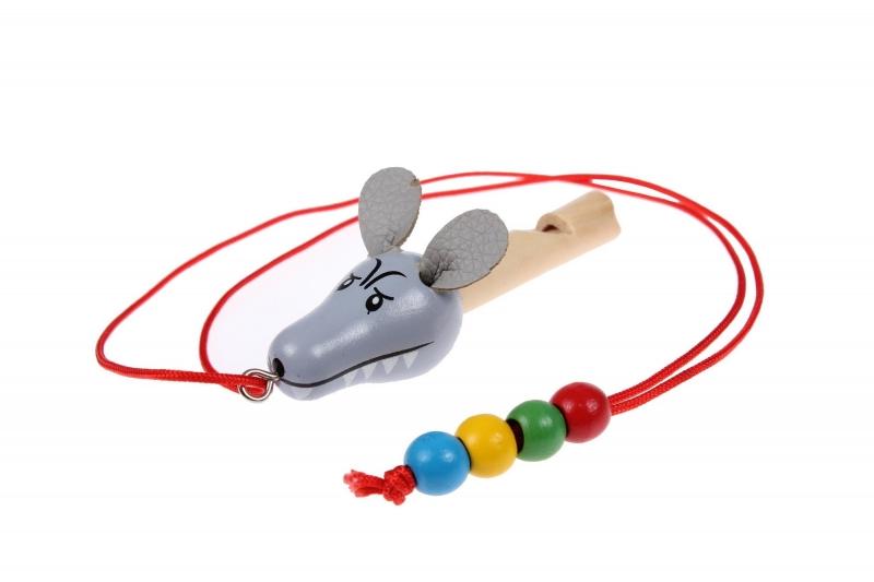 Свисток деревянный на шнурке «ВОЛК» BRADEX DE 0509