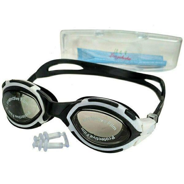 Очки для плавания взрослые черные T07617