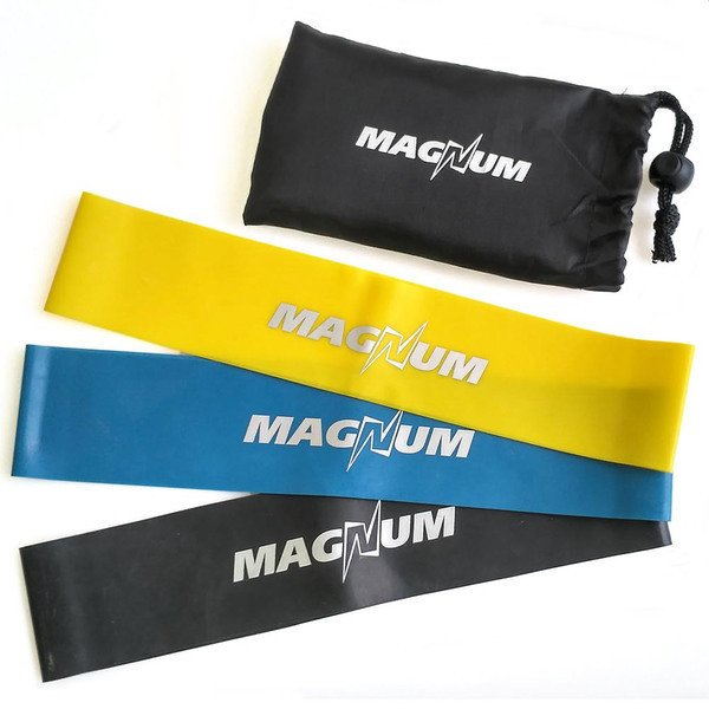 Комплект эспандеров Magnum 3 штуки в сумке MLB50-3