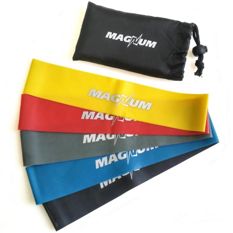 Комплект эспандеров Magnum 5 штук в сумке MLB50-5