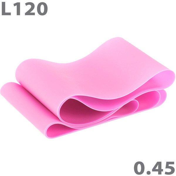 Эспандер-лента для аэробики 120 см х 15 см х 0,45 мм розовый MTPR/L-120-45
