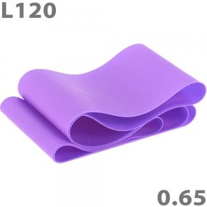 Эспандер-лента для аэробики 120 см х 15 см х 0,65 мм фиолетовый MTPR/L-120-65