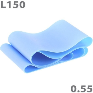 Эспандер-лента для аэробики 150 см х 15 см х 0,55 мм синий MTPR/L-150-55