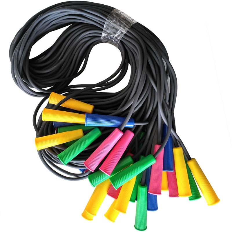 Скакалка 3,00 м. SKA-306 резиновый шнур d-6 мм., ручки пластик