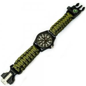 D26094-1 Часы туристические кварцевые 5в1 (хакки)