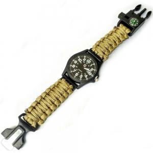 D26094-3 Часы туристические кварцевые 5в1 (песчаный)