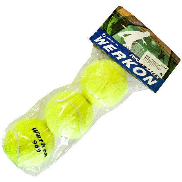 Мячи для большого тенниса 3 штуки (в пакете) C33248