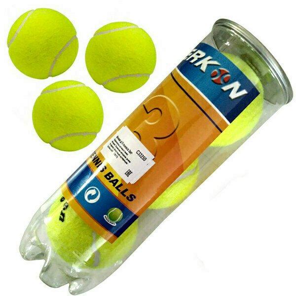 Мячи для большого тенниса 3 штуки (в тубе) C33250