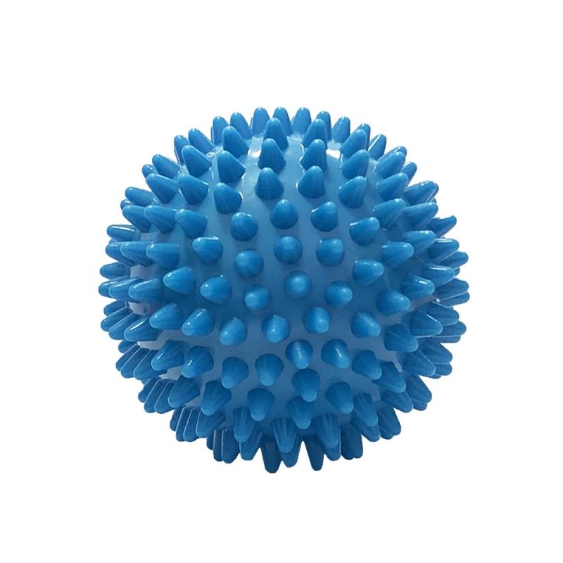 Мяч массажный голубой твердый ПВХ 6см. C33445