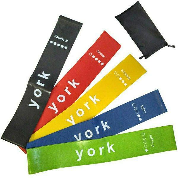 Комплект эспандеров из 5 штук York латексная петля 600х50 мм