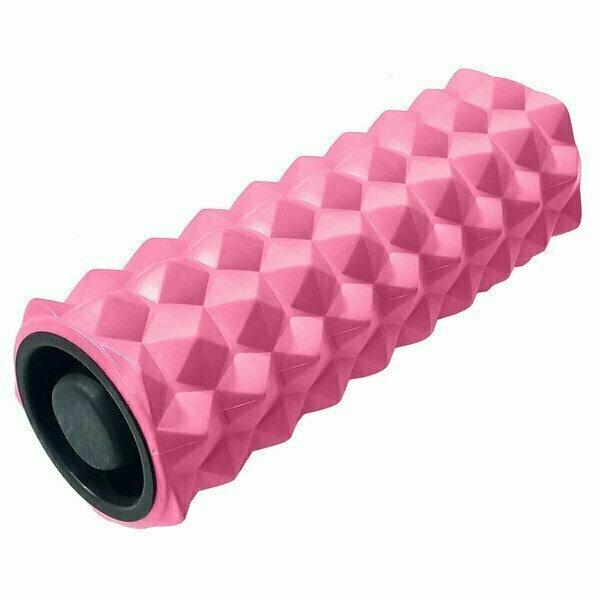 Ролик для йоги 33х13см ЭВА/АБС розовый B31257-5