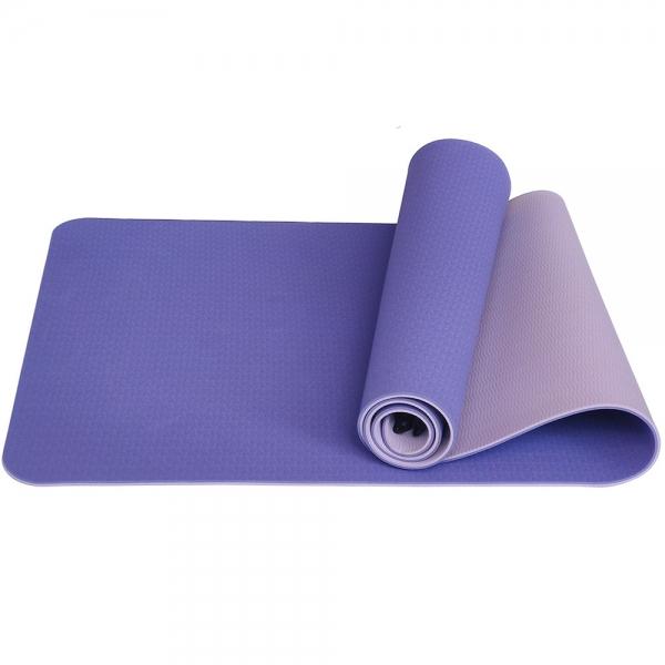 Коврик для йоги ТПЕ 183х61х0,6 см сиреневый E33584