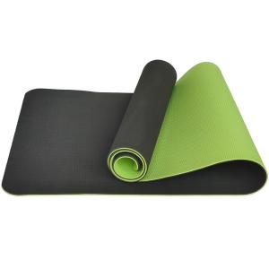 Коврик для йоги ТПЕ 183х61х0,6 см т.зеленый-салатовый E33582