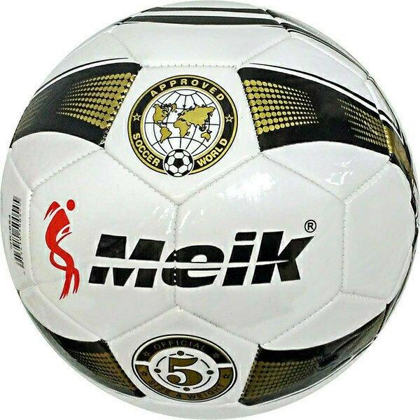 """Мяч футбольный """"Meik-054-6"""" 2-слоя, TPU+PVC 2.7, 410-420 гр., машинная сшивка B31221"""