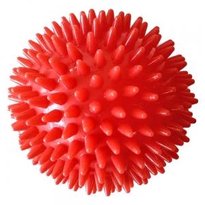 Мяч массажный красный твердый ПВХ 9см. C28759