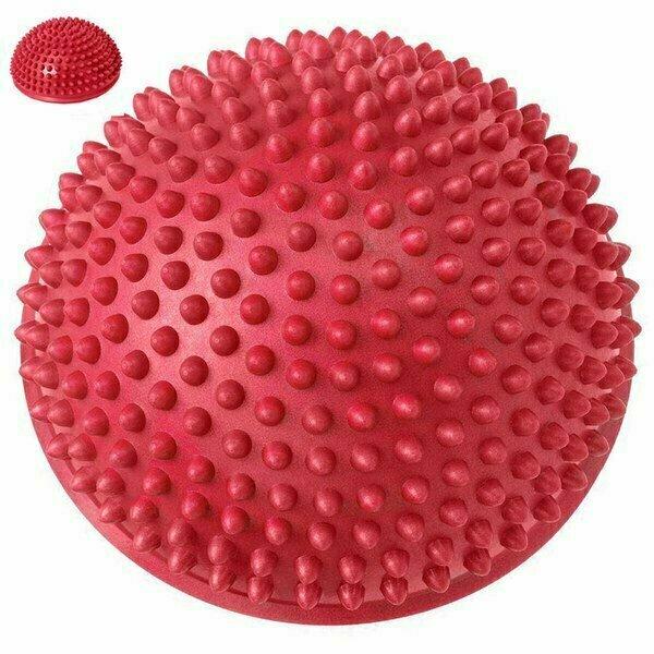 Полусфера массажная круглая надувная d-16 см C33513-6 красный