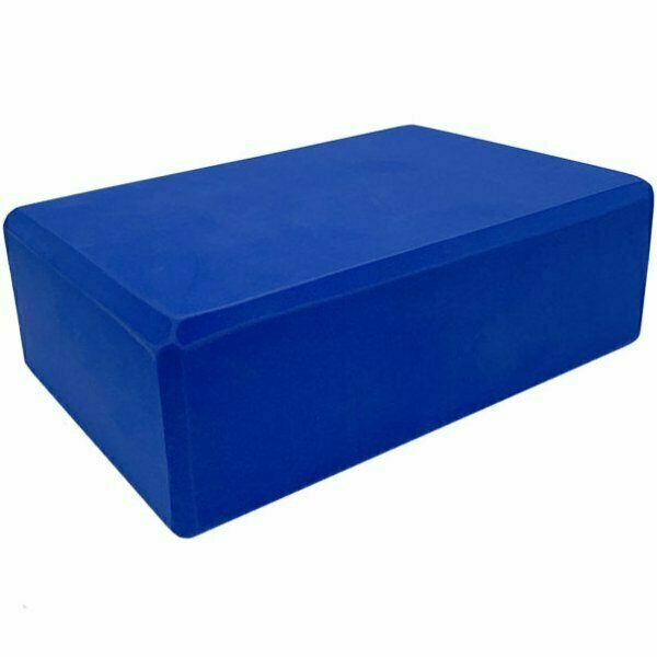 Йога блок полумягкий 223х150х76мм., A25568 синий BE100-1