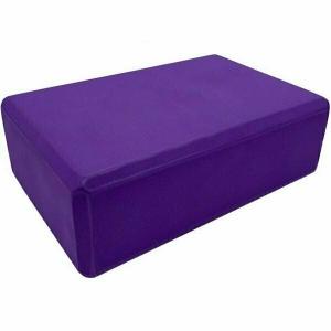 Йога блок полумягкий 223х150х76мм., A25569 фиолетовый BE100-2