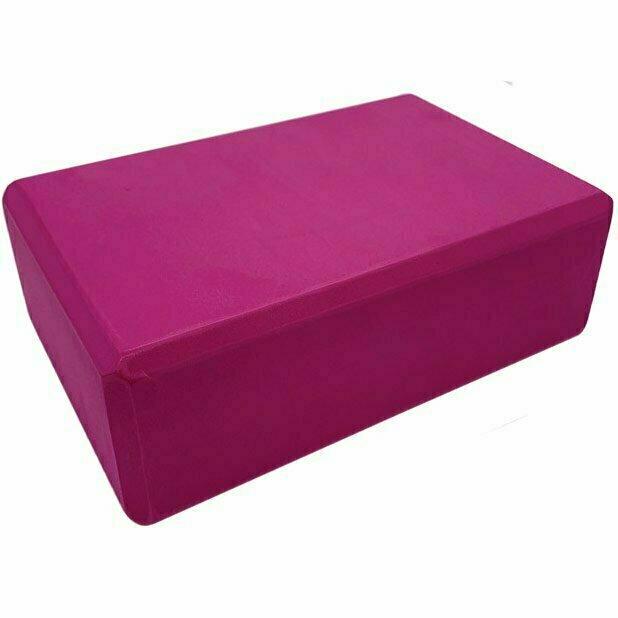 Йога блок полумягкий 223х150х76мм., A25576 малиновый BE100-3