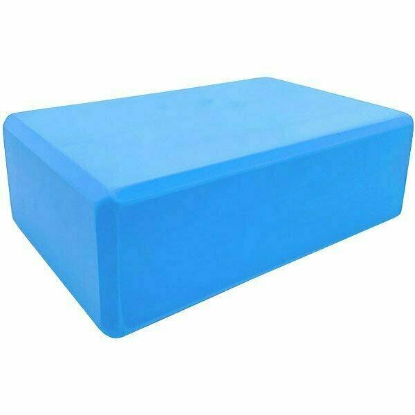 Йога блок полумягкий 223х150х76мм., A25576 голубой BE100-4