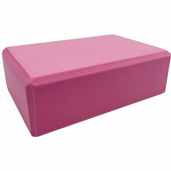 Йога блок полумягкий 223х150х76мм., A25576 розовый BE100-9