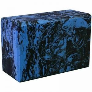Йога блок полумягкий 223х150х76мм A25577 черно-синий гранит BE200-10