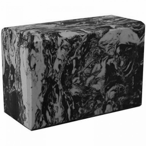 Йога блок полумягкий 223х150х76мм A25579 черно-серый гранит BE200-12