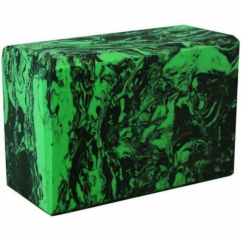 Йога блок полумягкий 223х150х76мм A25580 черно-зеленый гранит BE200-13