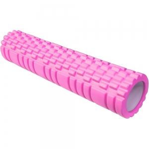 Ролик для йоги 61х13,5см ЭВА/АБС E29390 розовый