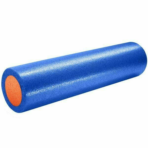 Ролик для йоги полнотелый 2-х цветный сине/оранжевый 61х15см. PEF100-61-B