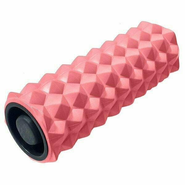 Ролик для йоги 33х13см ЭВА/АБС коралловый B31257-7
