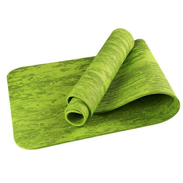 Коврик для йоги ТПЕ 183х61х0,6 см TPEM6-103 зеленый гранит B34522
